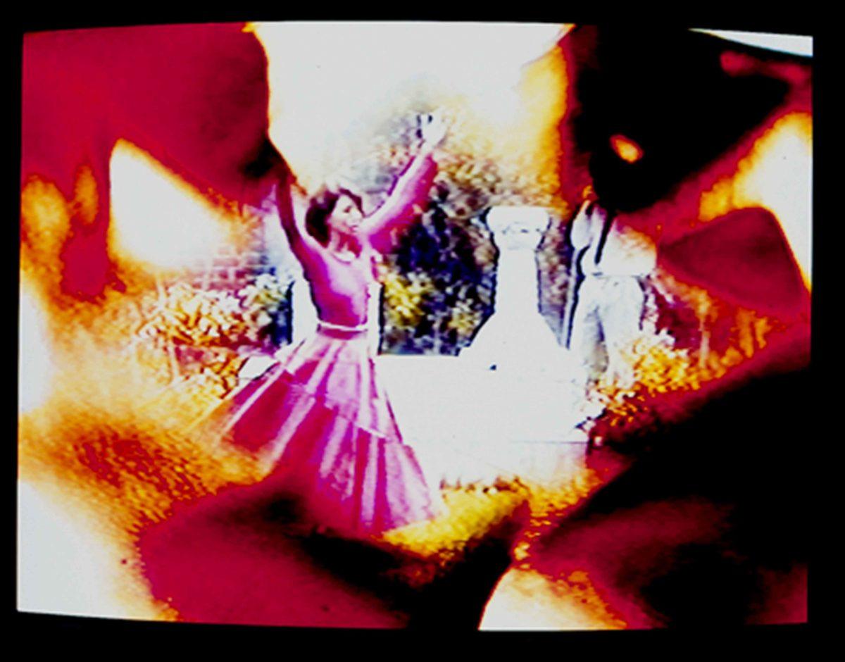 Ulrike Rosenbach, videostill of 'Dance in a madhouse', 1988